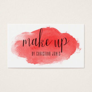 ★ Red Watercolour Modern Calligraphy Card ★
