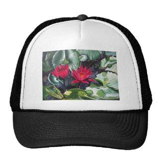 red waterlilies1 hat