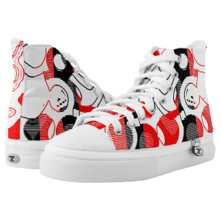 Red Wave High Tops