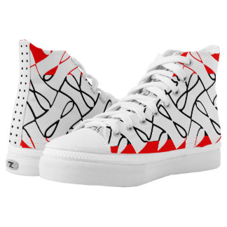 Red Wave II High Tops