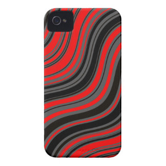 Red Waves iPhone 4 Case-Mate Cases