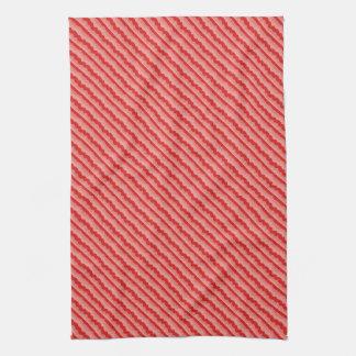 Red Waves Tea Towel