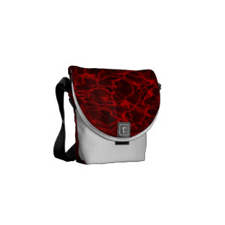 Red Wavy Rippling Fire Water Commuter Bag