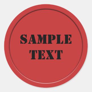 Red Wax Seal Round Sticker
