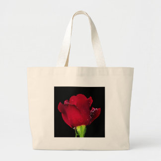 Red Wedding Rose Canvas Bags