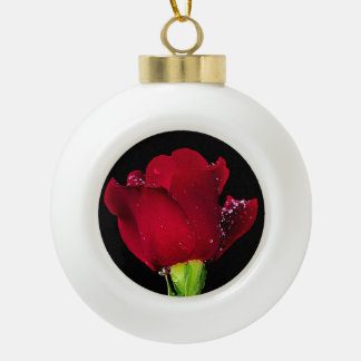 Red Wedding Rose Ornaments