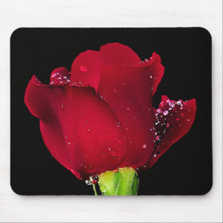 Red Wedding Rose Mouse Pads