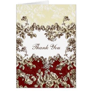 red wedding ThankYou Cards