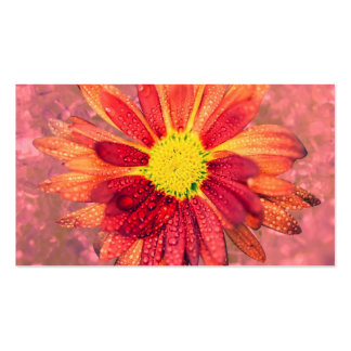 red wet flower business card template