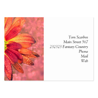 red wet flower business card