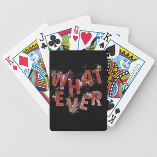 Red Whatever Bicycle Playing Cards