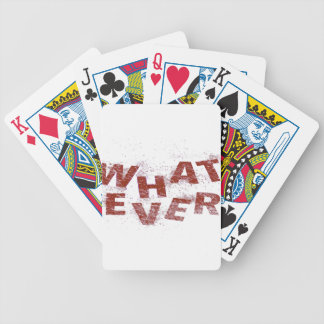Red Whatever PNG Bicycle Playing Cards