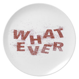 Red Whatever PNG Plate