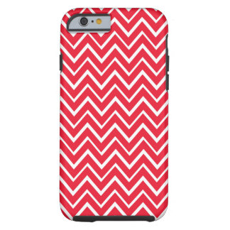 Red whimsical zigzag chevron pattern iPhone 6 case Tough iPhone 6 Case