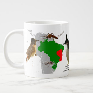 Red-Whiskered Bulbuls in Brazil by RoseWrites Large Coffee Mug