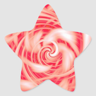 Red/White Abstract Star Stickers