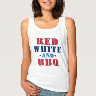 Red White and BBQ   Fourth of July Singlet