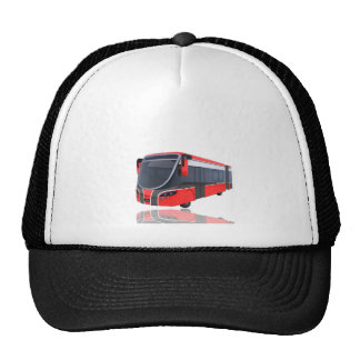 Red White and Black Bus on White Cap