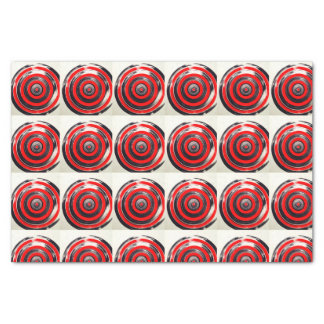 Red, white and black circles silk paper