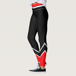 Red White and Black Leggings