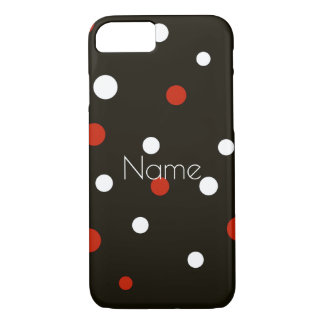 Red White and Black Polka Dot Theme Case