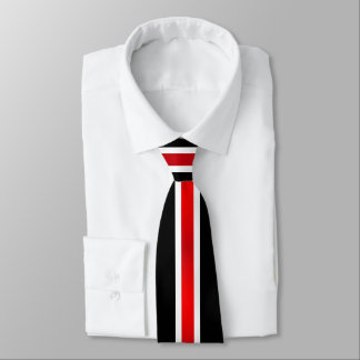 Red White and Black Stripes2 Tie