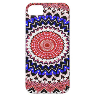 Red White and Blue 4th of July Mandala Pattern Barely There iPhone 5 Case