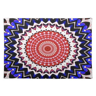 Red White and Blue 4th of July Mandala Pattern Placemat