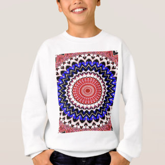 Red White and Blue 4th of July Mandala Pattern Sweatshirt