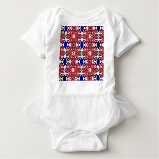 Red White and Blue 4th of July Tribal Pattern Baby Bodysuit