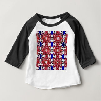 Red White and Blue 4th of July Tribal Pattern Baby T-Shirt