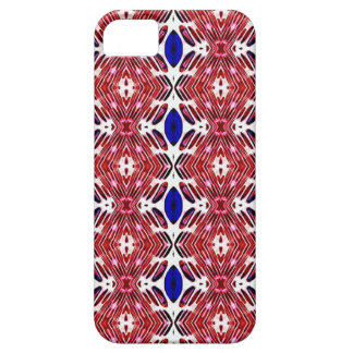 Red White and Blue 4th of July Tribal Pattern Barely There iPhone 5 Case