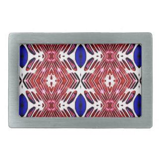 Red White and Blue 4th of July Tribal Pattern Belt Buckles