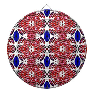 Red White and Blue 4th of July Tribal Pattern Dartboard