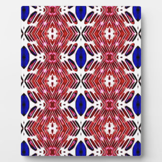 Red White and Blue 4th of July Tribal Pattern Display Plaques