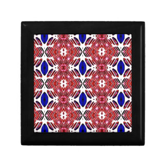 Red White and Blue 4th of July Tribal Pattern Gift Box