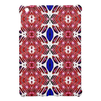 Red White and Blue 4th of July Tribal Pattern iPad Mini Covers