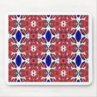 Red White and Blue 4th of July Tribal Pattern Mouse Pad