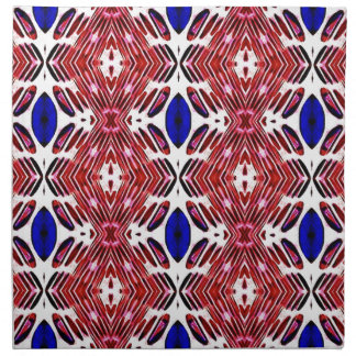 Red White and Blue 4th of July Tribal Pattern Napkin