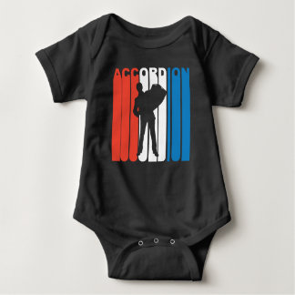 Red White And Blue Accordion Baby Bodysuit