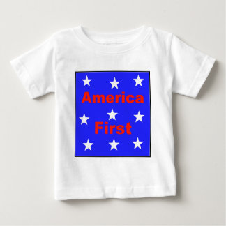 "Red, White, And Blue ""America First"" Design Baby T-Shirt"