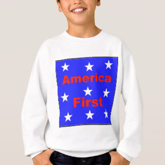 "Red, White, And Blue ""America First"" Design Sweatshirt"
