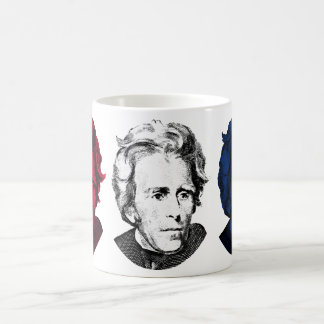 Red, White, and Blue -- Andrew Jackson Coffee Mug