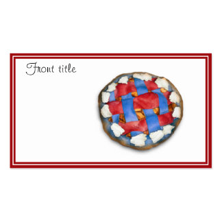 Red White And Blue Apple Pie Pack Of Standard Business Cards