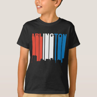 Red White And Blue Arlington Texas Skyline T-Shirt