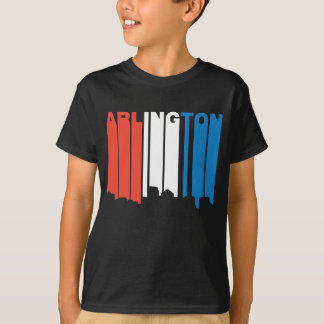 Red White And Blue Arlington Virginia Skyline T-Shirt
