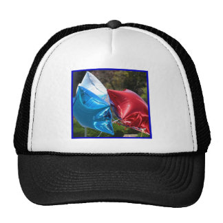 Red White and Blue balloons cap