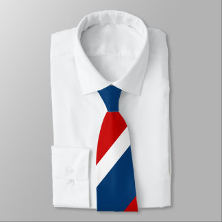 Red White and Blue Broad Regimental Stripe Tie