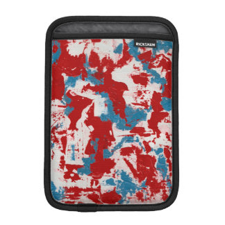 Red, White and Blue Brushstrokes iPad Mini Sleeve