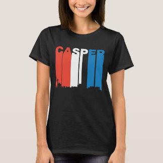 Red White And Blue Casper Wyoming Skyline T-Shirt